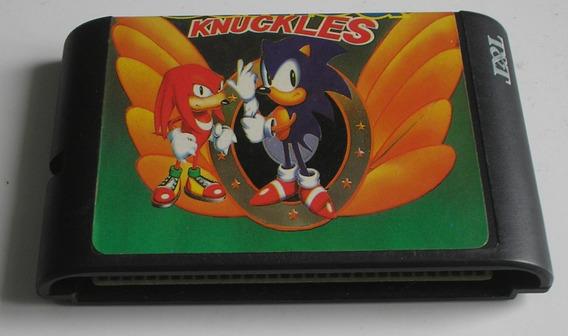 Sonic & Knuckles Mega Drive Paralelo Usada Funcionando Ok