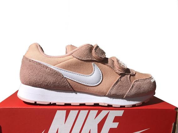 Tênis Infantil Nike Md Runner 2 Pe Rosa E Branco Original