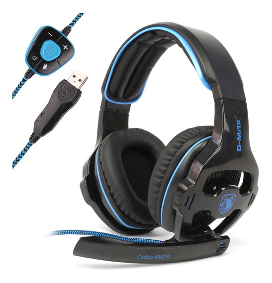 Fone Ouvido Headset Gamer 7.1 Usb Com Microfone E Drive F28