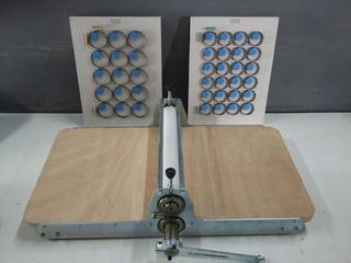 Máquina De Corte E Vinco Manual 31 Cm Mais Faca 5 Cm E 4 Cm