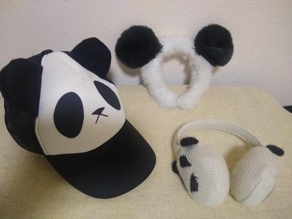 Pao.toys Gorra, Diadema Y Orejeras De Panda Niña