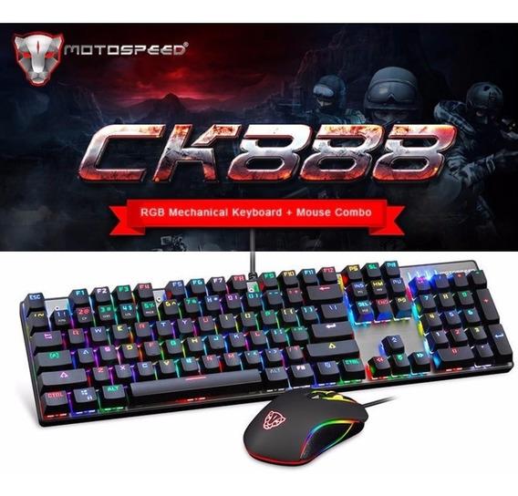 Kit Gamer Motospeed Ck888 Teclado E Mouse