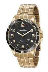 Relógio Masculino Mondaine Dourado 78758gpmvda2 Original