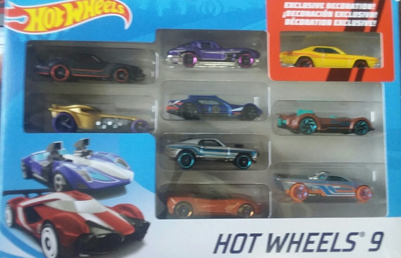 9 Pack Carrito Hotwheels Carro Hot Wheels Originales