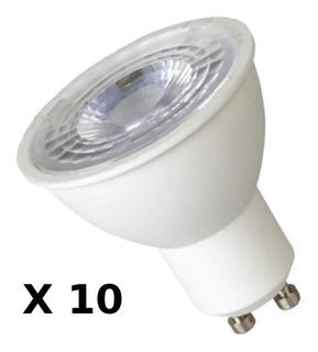 Lampara Dicro Led 7w 220v Gu10 Cálida Glowlux - X10 Unidades