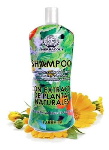 Shampoo Anticaida De Extracto De Plantas 1000ml