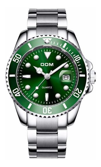 Relógio Masculino Dom Original Quartzo Prata A Prova D