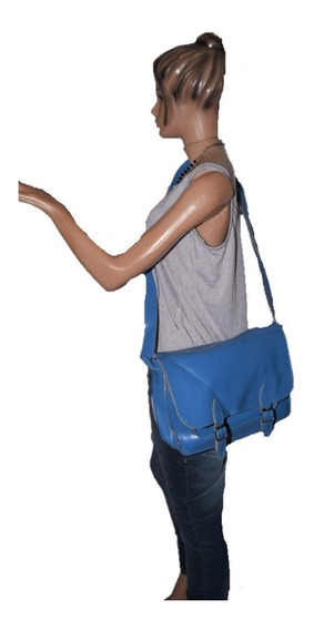 47 Street Morral De Simil Cuero Color Azul Promo
