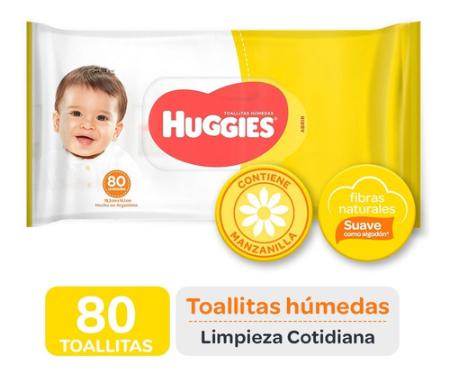 Toallas Húmedas Huggies Limpieza Cotidiana X 80