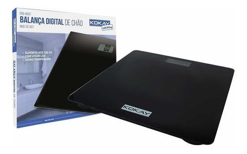 Imagem 1 de 2 de Balança Digital De Chão Para Até 180kg Preto