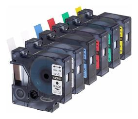 Conjunto 6 Cores De Fita Compativel D1 12mm - Rotulador Dymo