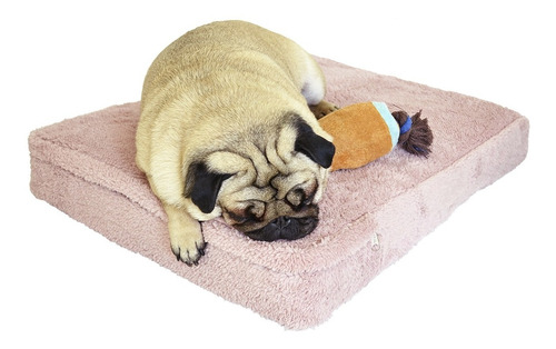 Imagen 1 de 6 de Cucha Perro Cama Para Perros Rosa Corderito 50x80