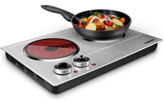 Cusimax - Placa Eléctrica Eléctrica De Cerámica Para Cocinar