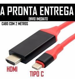Cabo Tipo C Macho Para Hdmi Macho 2mts 4k Full Hd S8 Mec