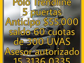 Volkswagen Polo Trendline 0km Credito Uva Solo Dni 5 Puertas