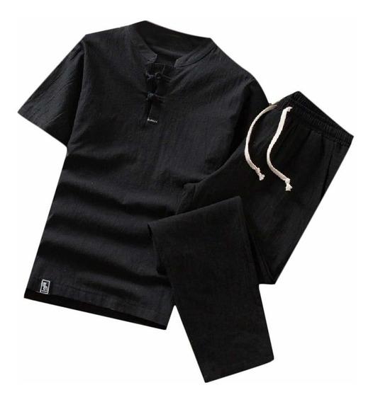 Pt Plus-size Sólido Estilo Chinês Suéter Ternos Tracksuits