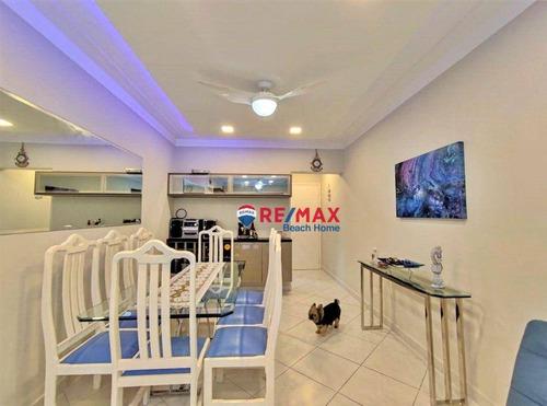 Imagem 1 de 30 de Apartamento Com 3 Dormitórios À Venda, 110 M² Por R$ 600.000,00 - Praia Das Pitangueiras - Guarujá/sp - Ap3175