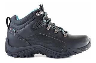 Bota Cuero Mujer Briganti Zapato Trekking Borcego Mcbo24926