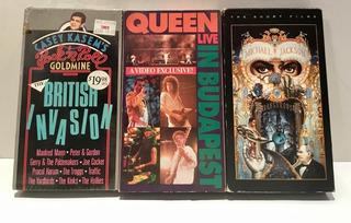 Queen Live Michael Jackson British Invasion 3 Vhs Originales