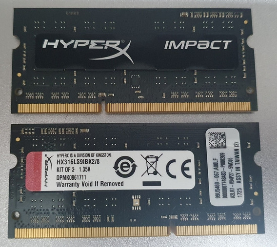 2 X Kingston Hyperx Impact 4gb Ddr3 Cl9 (8gb Total)