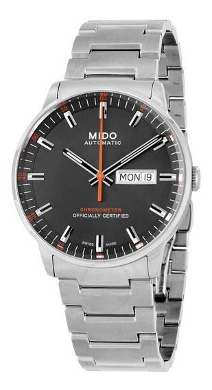 Relogio Mido M0214311106101 Commander Ii Cinza Automatico