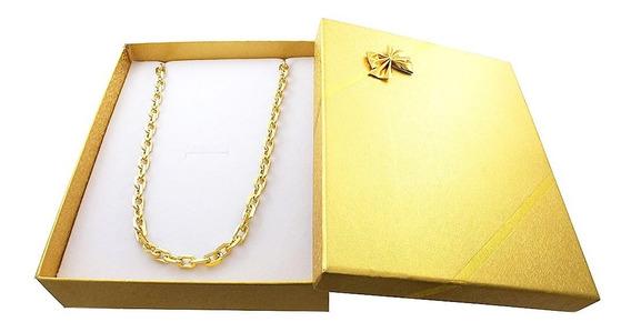 Corrente Cartier Cadeado 70cm7mm Banhada Ouro C/garantia 52