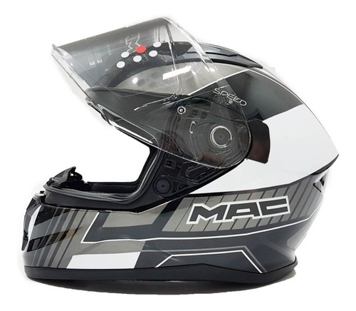 Imagen 1 de 5 de Casco Moto Integral Mac Speed Dash Gloss Solomototeam