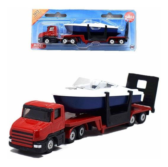 Camion Scania Playo Con Embarcación - Siku Series 16