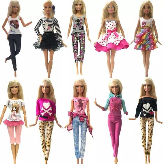 Barbie - 10 Roupas +5 Sapatos - Frete Grátis -pode Escolher