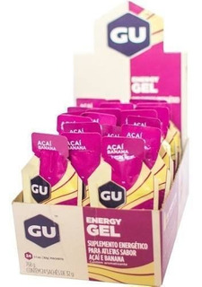 Gu Energy Gel Carboidrato Açai Banana Caixa C/ 24 Sachês