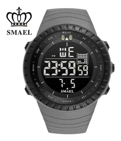 Relógio Smael 1237 Cinza (promoção)