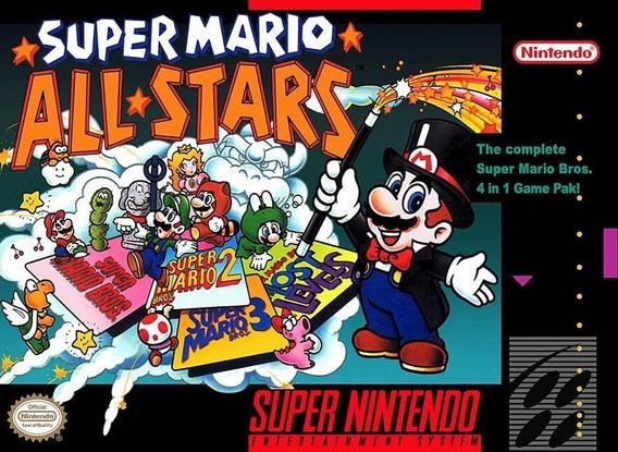Fita / Cartucho Super Mario All Stars Super Nintendo 12x