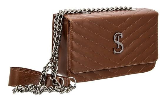 Bolsa Clutch Pequena De Lado Alça De Corrente Florença