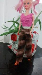 Kit De Roupas De Crochê Para Boneca Barbie E Similares!