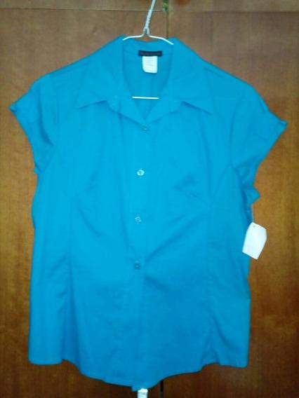 Camisa Para Dama, Marca: Marcus Lismartu. Nueva.