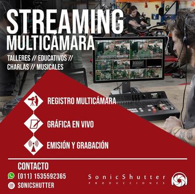 Streaming Multicámara Para Eventos Musicales Charlas Taller