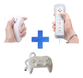 Kit Wii - Remote + Nunchuk + Controller Pro (classic)
