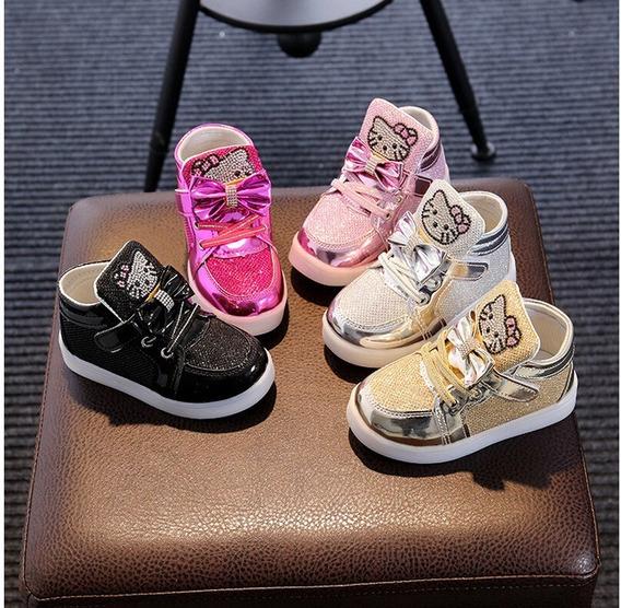Zapatillas Hello Kitty Con Luces