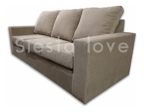 Siestalove - Sillon Cubo 3 Cuerpos Chenille Placa Soft