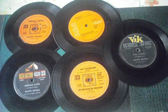 Lote N° 1(10 Discos Simples 33 Rpm Años 60-70 Ritmos Varios)