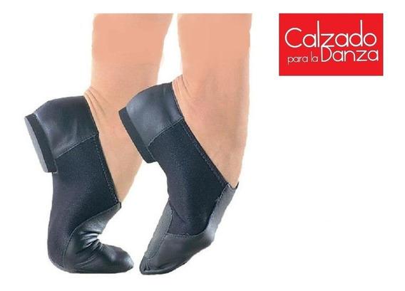 Botitas De Danza De Cuero Y Neoprene, Bota Corta Danza Jazz