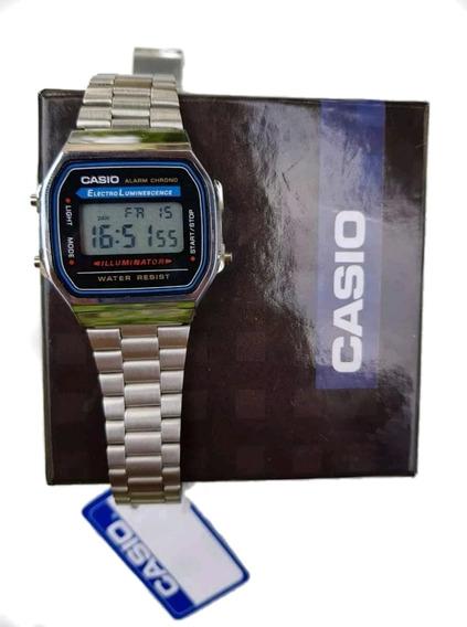 Reloj Caballero Casio A-158 Vintage Palata Con Caja Gratis