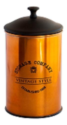 Frasco Hermetico Cobre Con Tapa Negra Vintage 1500ml