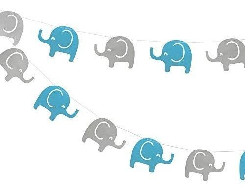 Elefante Garland Decoraciones Elefante Baby Shower Banner Ni
