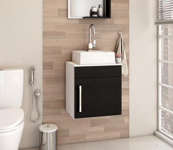 Armário Gabinete P/banheiro (balcão C/cuba Q32) Liz Lt 45cm
