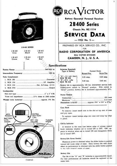 Esquema De Radio Antigo Rca 5q5