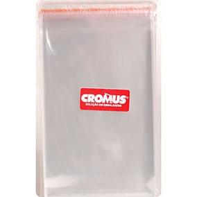 Saco Transparente Aba Adesiva E Furo 10x15 Cromus Com 100 Un