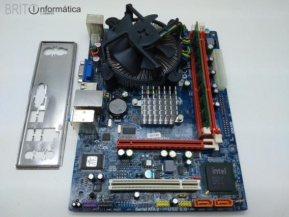 Kit 775 Placa Mãe G41t-m7 + Cpu Dual Core + 4gb Ddr3 #393