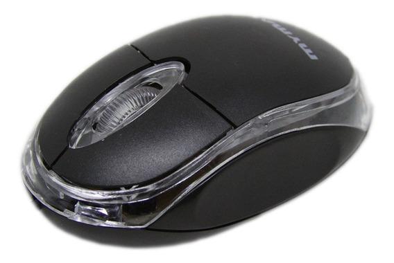 Mouse Óptico Classic Preto 800dpi Usb Led