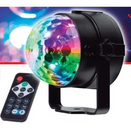 Imagen 1 de 7 de Bola Disco Led Rgb Mini Giratoria Efecto Disco Con Control